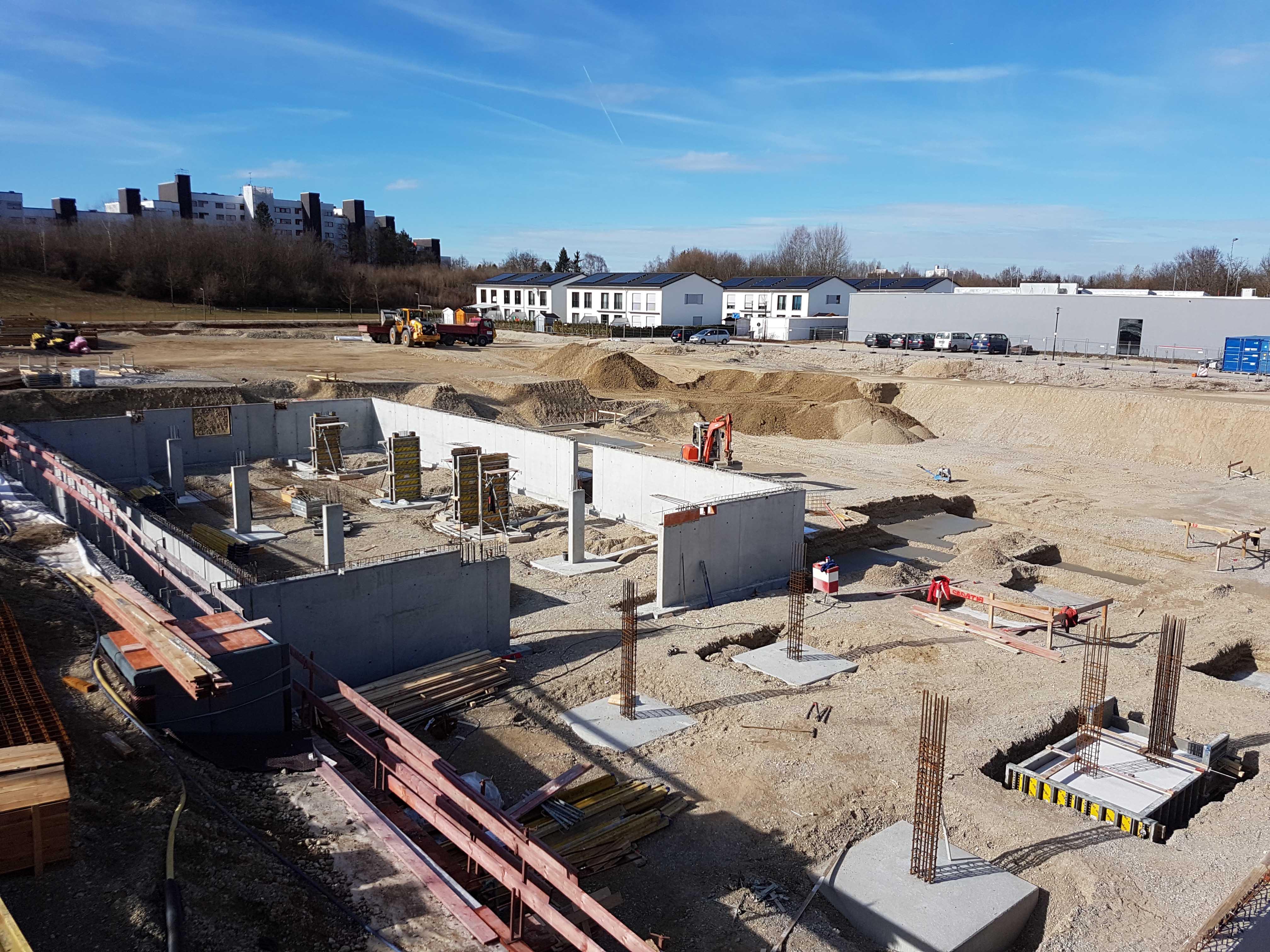 Unterhaching – Stumpfwiese – Baubeginn 2. Bauabschnitt