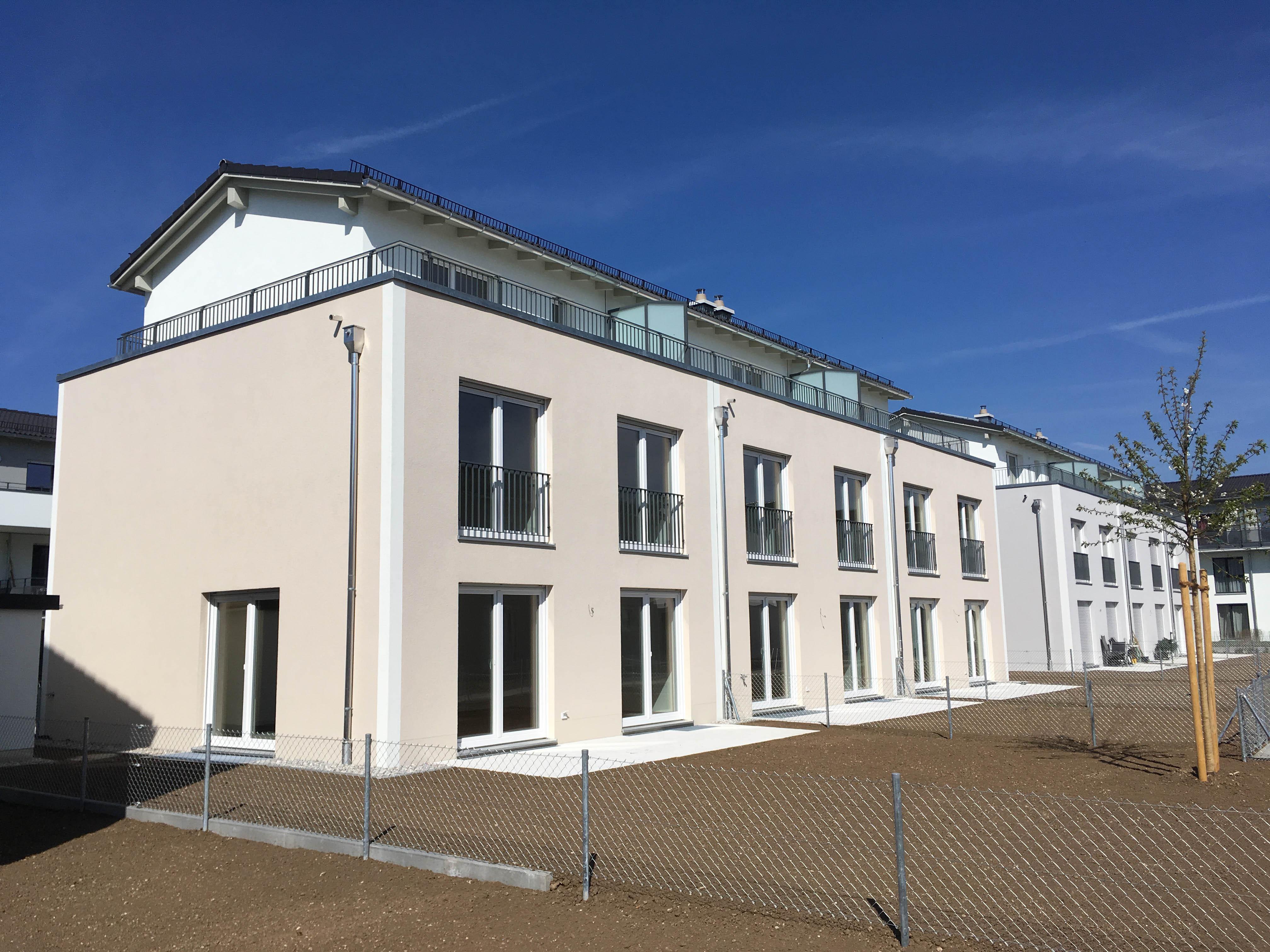 Fertigstellung der Reihenhäuser Hubertusanger in Unterhaching